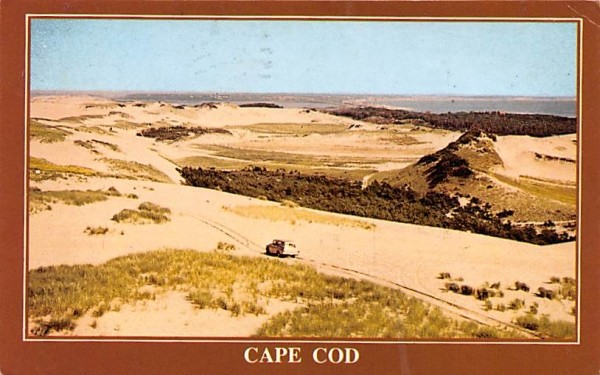 A spectacular view of the dunes Buzzard Bay, Massachusetts Postcard