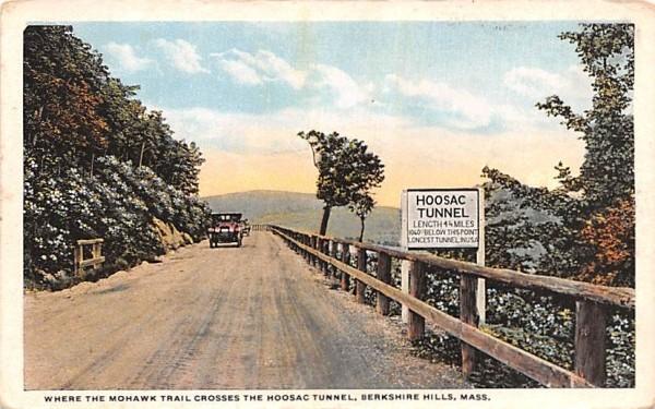 Where the Mohawk Trail Crosses the Hoosac Tunnel Berkshire Hills, Massachusetts Postcard