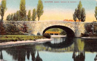 Bridge of Fenway Boston, Massachusetts Postcard
