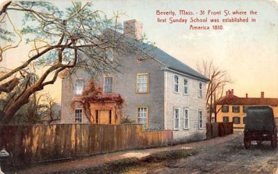 31 Front St.  Beverly, Massachusetts Postcard
