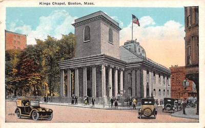 Kings Chapel Boston, Massachusetts Postcard