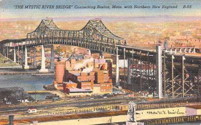 The Mystical River Bridge Boston, Massachusetts Postcard