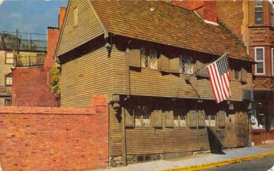 The Paul Revere House Boston, Massachusetts Postcard