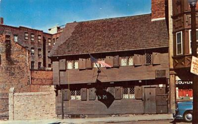 The Paul Revere House Boston, Massachusetts Postcard