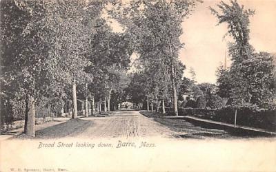 Broad Street Barre, Massachusetts Postcard
