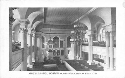 King's Chapel Boston, Massachusetts Postcard