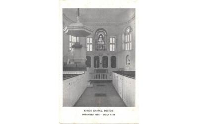 King's Chapel Boston, Massachusetts Postcard