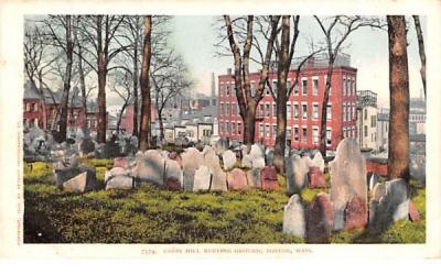 Copps Hill Boston, Massachusetts Postcard