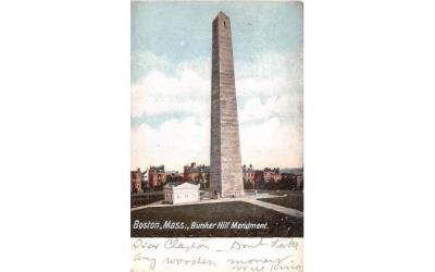 Bunker Hill Monument Boston, Massachusetts Postcard