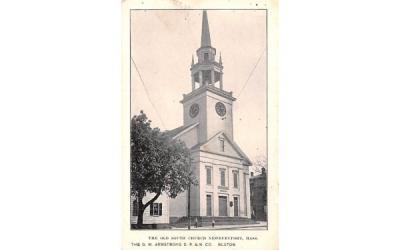 The Old South Church Boston, Massachusetts Postcard