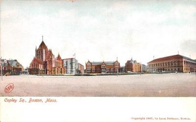 Copley Sq. Boston, Massachusetts Postcard
