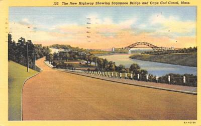 The New Highway  Buzzards Bay, Massachusetts Postcard