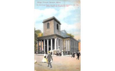 Kings Chapel Boston, Massachusetts Postcard