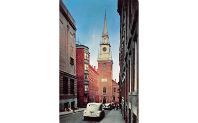 The Old North Church Boston, Massachusetts Postcard
