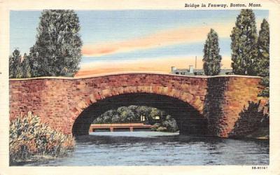 Bridge in Fenway Boston, Massachusetts Postcard