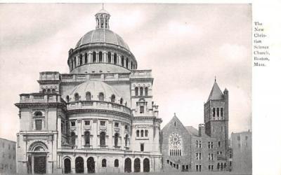 The New Christian Science Church Boston, Massachusetts Postcard