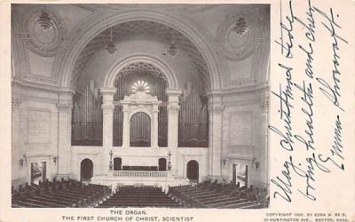 The Organ Boston, Massachusetts Postcard