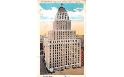 The New United Shoe Machinery Corporation Building Boston, Massachusetts Postcard