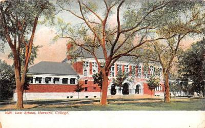 Law School Boston, Massachusetts Postcard