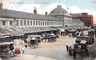 In the Market District Boston, Massachusetts Postcard