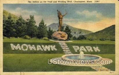 Indian, Wishing Well - Charlemont, Massachusetts MA Postcard