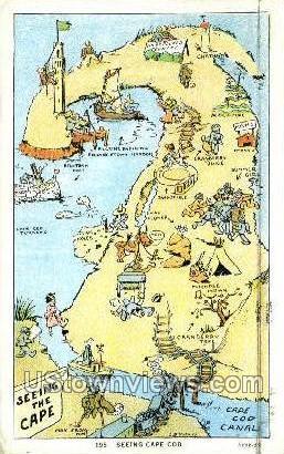 Cape Cod, MA     ;     Cape Cod, Massachuetts - Massachusetts MA Postcard