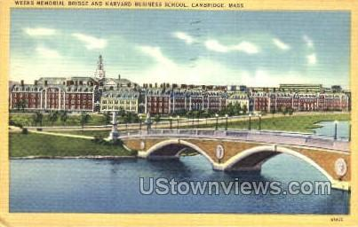 Harvard Business School - Cambridge, Massachusetts MA Postcard