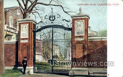 Harvard Gate - Cambridge, Massachusetts MA Postcard