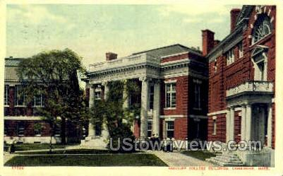 Radcliff College Building - Cambridge, Massachusetts MA Postcard