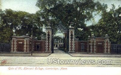Gate of 77, Harvard College - Cambridge, Massachusetts MA Postcard
