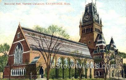Memorial Hall, Harvard University - Cambridge, Massachusetts MA Postcard
