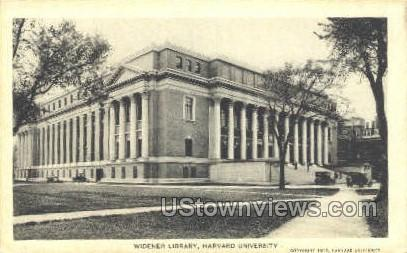 Widener Library, Harvard University - Cambridge, Massachusetts MA Postcard