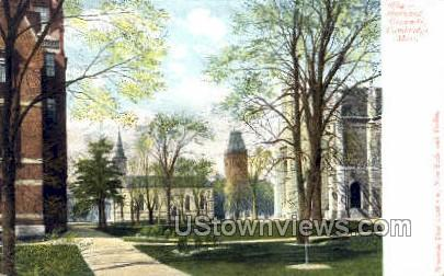 Harvard Grounds - Cambridge, Massachusetts MA Postcard