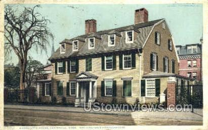 Wadsworth House - Cambridge, Massachusetts MA Postcard