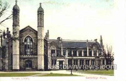 Harvard Library - Cambridge, Massachusetts MA Postcard