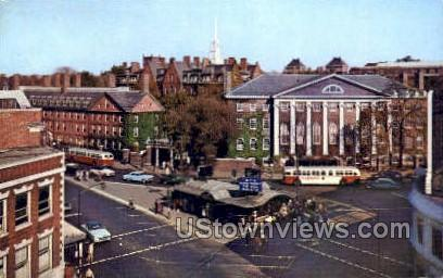 Harvard Square - Cambridge, Massachusetts MA Postcard