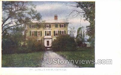 Lowell's House - Cambridge, Massachusetts MA Postcard