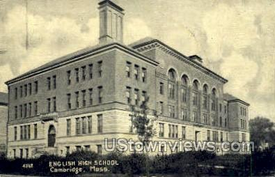 English High School - Cambridge, Massachusetts MA Postcard