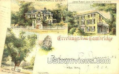 Greetings - Cambridge, Massachusetts MA Postcard