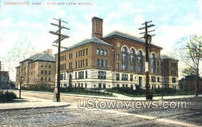 High & Latin Schools - Cambridge, Massachusetts MA Postcard