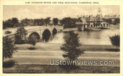 Larz Anderson Bridge - Cambridge, Massachusetts MA Postcard