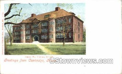 Seaver Hall, Harvard College - Cambridge, Massachusetts MA Postcard