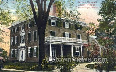James Russell Lowell House - Cambridge, Massachusetts MA Postcard