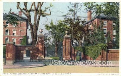 North Gate 79, Harvard University - Cambridge, Massachusetts MA Postcard