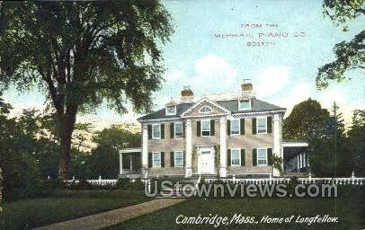 Home of Longfellow - Cambridge, Massachusetts MA Postcard