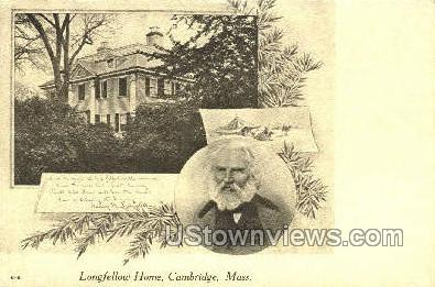 Longfellow's Home - Cambridge, Massachusetts MA Postcard
