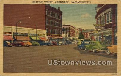 Brattle St. - Cambridge, Massachusetts MA Postcard