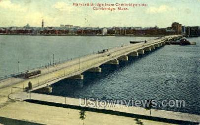 Harvard Bridge - Cambridge, Massachusetts MA Postcard