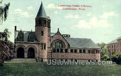 Cambridge Public Library - Massachusetts MA Postcard