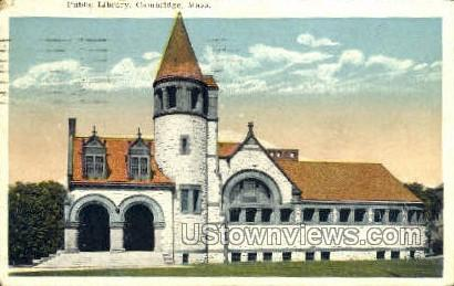 Public Library - Cambridge, Massachusetts MA Postcard